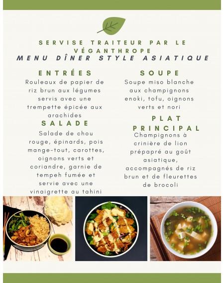 Diner style asiatique pour...