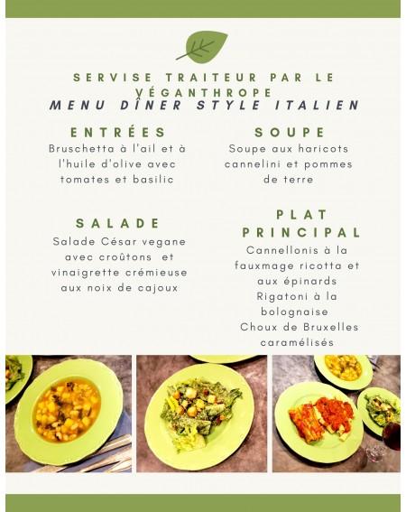 Italian Style Dinner for 4...