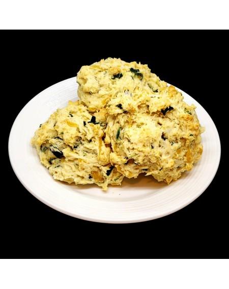 Cheesy Spinach  Breakfast Drop Biscuit